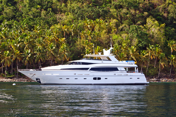 Introduced first Monte Fino 100 designed by Humphreys Yacht Design (HYD)