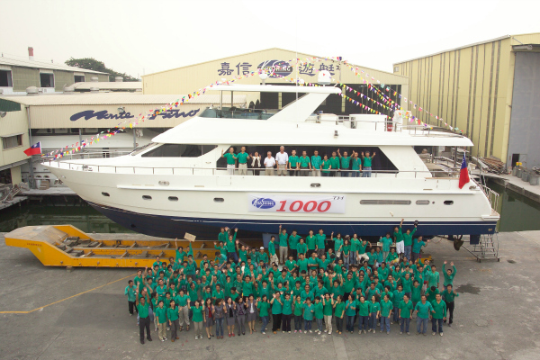 Completed and delivered the 1000 yachts.